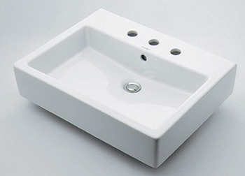 KAKUDAI(カクダイ)DURAVIT角型洗面器 置型タイプ(3ホール)#DU-0452600030