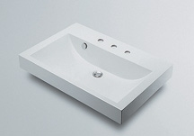 KAKUDAI(カクダイ)CORPOSO角型洗面器 半埋めタイプ(3ホール)493-071-750