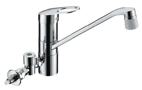 TOTO(トートー)シングルレバー混合栓(分岐止水栓付)キッチンシャワータイプTKGG31ECH