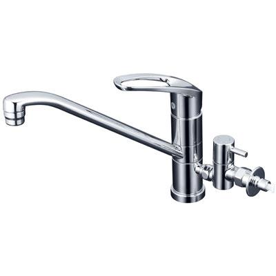 KVK流し台用シングルレバー式混合栓(給水接続専用・回転分岐止水栓付)KM5041CTTU/KM5041ZCTTU