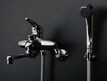 カクダイ シングルレバーシャワー混合栓 143-001