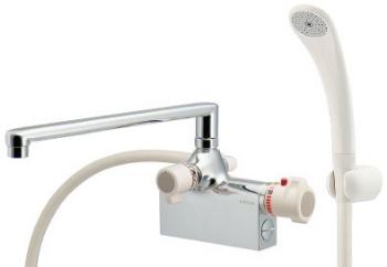 カクダイサーモスタットシャワー混合栓(デッキタイプ)175-008
