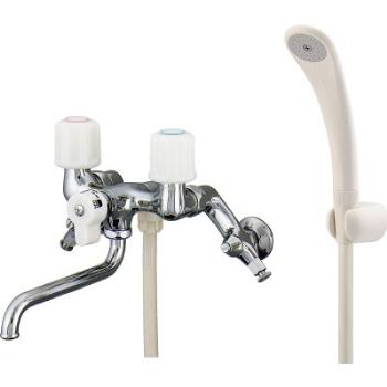 カクダイ 2ハンドルシャワー混合栓(一時止水)1395SK(寒冷地用)