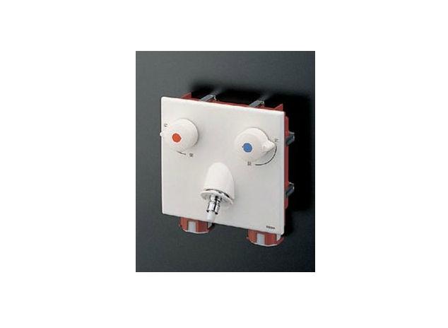 TOTO(トートー)ピタットくん壁埋込みタイプ樹脂配管用緊急止水弁付き2ハンドル混合栓TWAS20AP1A
