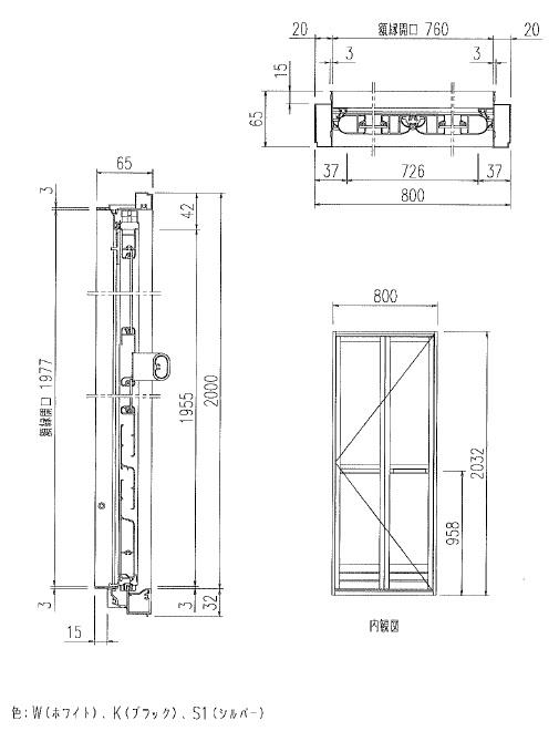 INAX(イナックス) バス 折り戸 VDY-8002032(65)W