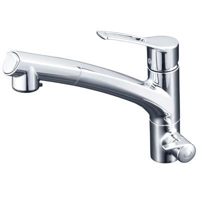 KVK浄水器専用シングルレバー式混合栓<シャワー引出式>KM5061NCK