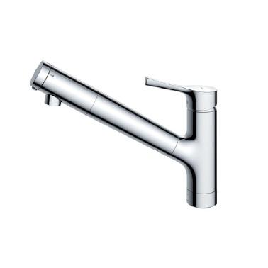 TOTO台付シングル混合水栓(エコシングル、浄水カートリッジ内蔵、吐水切替)TKS05307J