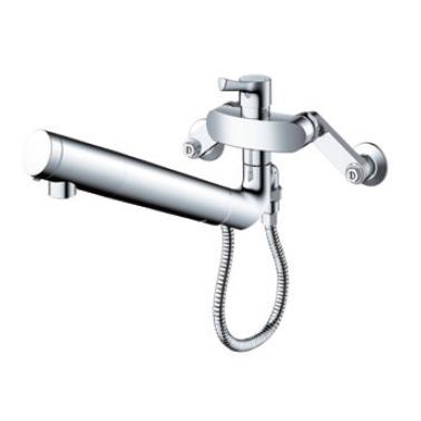TOTO壁付シングル混合水栓(エコシングル、浄水カートリッジ内蔵、 ハンドシャワー)TKS05318J
