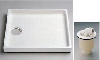 TOTO(トートー)900サイズ洗濯機パン+ABS樹脂製縦引きトラップPWSP90J2W