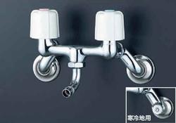 KVK洗濯機用2ハンドル混合栓【寒冷地用】KM33N3WB