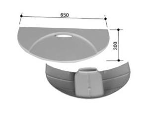 INAX(LIXIL)洗面器台+洗面器台固定金具セットLUD-6530A(1)/N86+LB-100S