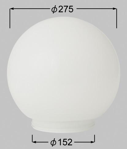 TOEX(LIXIL)GK-2型用ガラスグローブ シロLYT03000A