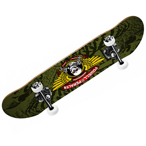 【パウエル コンプリートセット】Powell WINGED RIPPER Complete Skateboard Mini 7.5x28.65 Olive●KIDS キッズ 子供用