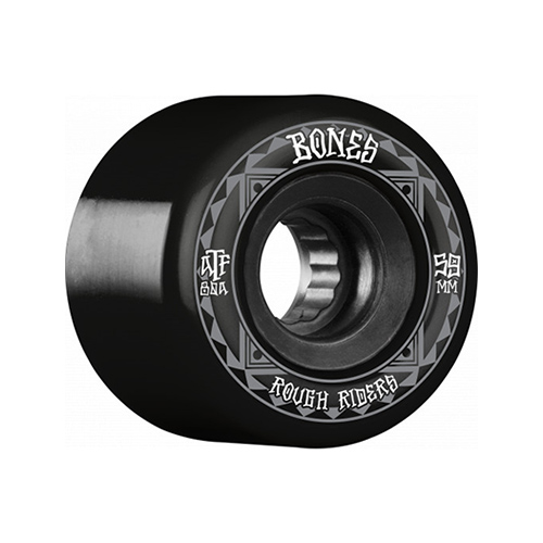 Skateboard wheel ボーンズ 贈答 スケートボード ウィール 59mmx44mm 80a BONES Wheels BLACK RUNNERS ブラック セール開催中最短即日発送 ROUGH RIDERS 4個セット ATF