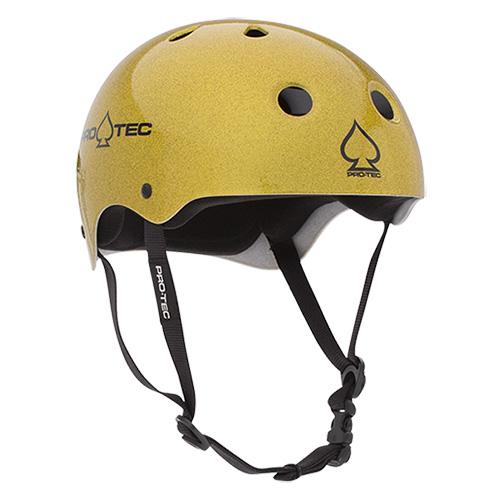 【プロテック ヘルメット】PRO-TEC HELMET CLASSIC SKATE GOLD FLAKE(ゴールドフレーク) S/M/L/XL●プロテクター パッド