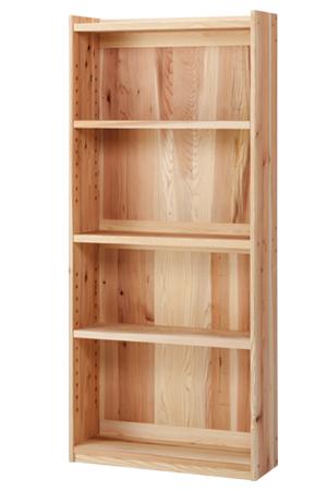本棚 無垢【杉の本棚[大の裏板]】ラック 棚 木製スリム 薄型 リビング 大人 子供 キッズ 家具 木 天然 国産 日本製 おしゃれ