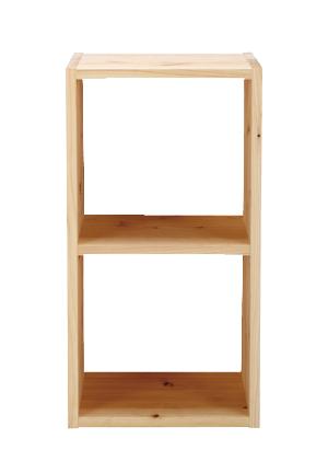 2段ボックス[オープン]【無垢・カラーボックス・BOX・本棚・日本製・完成品 収納 天然木 子供部屋 リビング ラック キッズ 子供 ボックス BOX 箱 A4サイズ 】