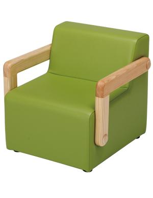 【ひのき無垢】【幼児用】【日本製】子供だけの特等席。 ちびソファ