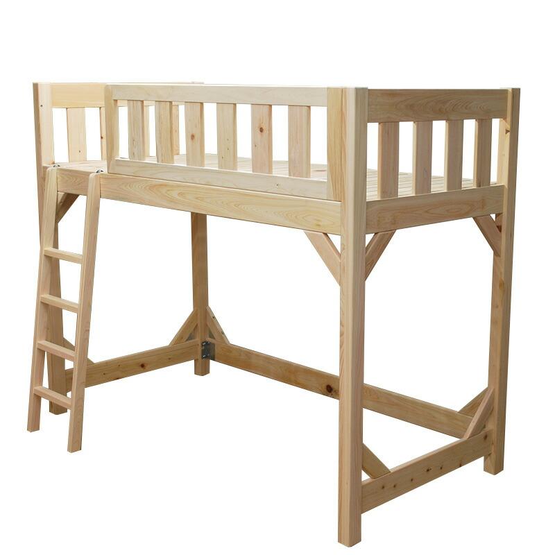 [サイズ変更可能]ベッド下に子供が立てれる無垢ひのき木製頑丈ロフトベッド バーディカル40 すのこベッド