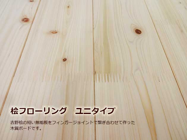 【吉野桧 フィンガージョイントフローリング】節あり(一等)長さ2000mm×幅110mm×厚み15mm [16枚セット]二方本ザネ加工 自然塗装品【代引不可】