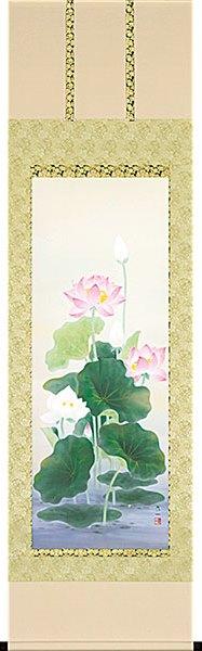 聖蓮華/仏画の掛け軸 極楽浄土の世界/聖蓮華の掛け軸 高級桐箱付