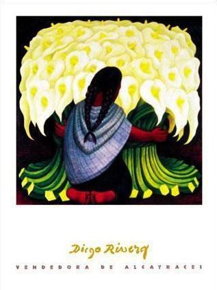 ディエゴ・リベラ作品 The Flower Seller アートプリント/アートフレーム付