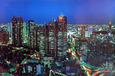 A 期間限定今なら送料無料 NIGHT VIEW 限定価格セール OF TOKYO 東京夜景I フレーム なし 額 新都心 ポスター