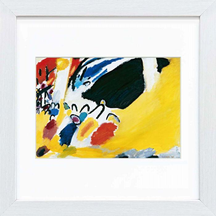 世界の名画がコレクションしやすいコンパクトサイズになって登場 カンディンスキー作品 印象3(コンサート) スクエア額装作品 高精細ジグレー版画 額装作品