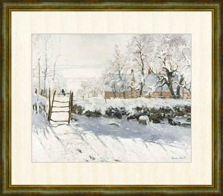 Claude Monet 最新号掲載アイテム 1840-1926 かささぎ クロード モネ作品 F8サイズ 額装作品 正規認証品!新規格 高精細巧芸画