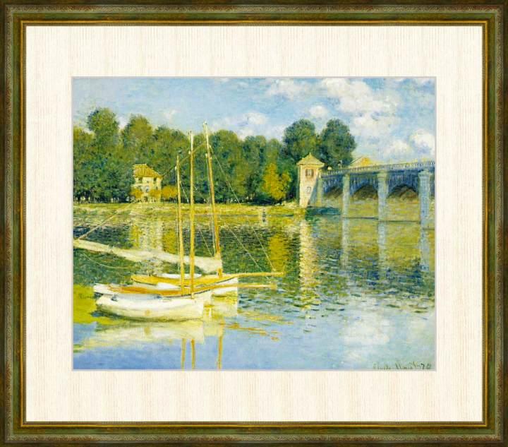 Claude Monet 1840-1926 アルジャントゥイユの橋 クロード 18%OFF F8サイズ 出色 モネ作品 額装作品 高精細巧芸画