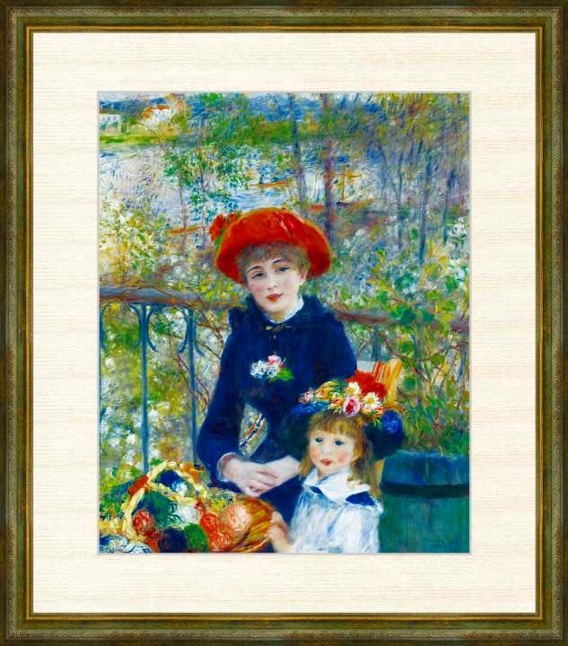 定価 Pierre-Auguste Renoir 1841-1919 テラスにて F8サイズ ルノワール作品 ※アウトレット品 高精細巧芸画 額装作品