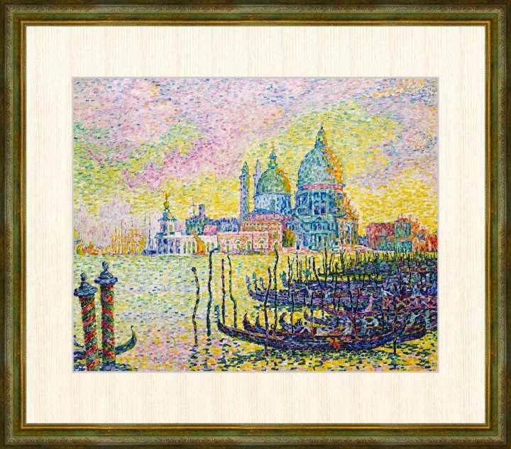 Signac 1863-1935 ヴェニスの大運河 シニャック作品 高精細巧芸画 限定価格セール 額装作品 WEB限定 F8サイズ