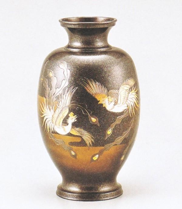 花瓶通販 高岡銅器の花瓶/鳳祥 鳳凰12号 高岡銅器通販/送料無料
