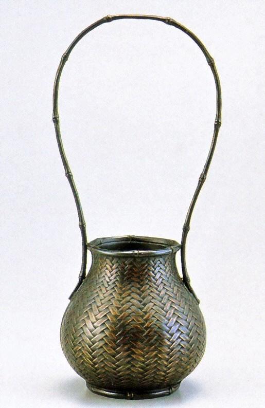 高岡銅器の銅製花瓶/網代(大) 化粧箱付/送料無料
