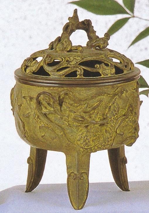 香炉 高岡銅器 龍文香炉 名取川雅司作品 香炉通販/送料無料
