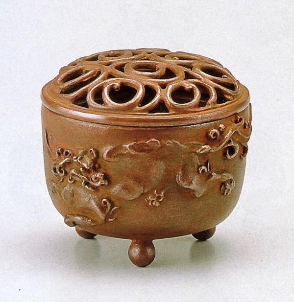 送料無料!獅子文香炉 名取川雅司作品 高岡銅器通販/送料無料