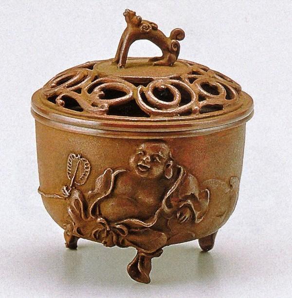 伝統工芸通販 高岡銅器/布袋文香炉 名取川雅司作品 伝統工芸通販