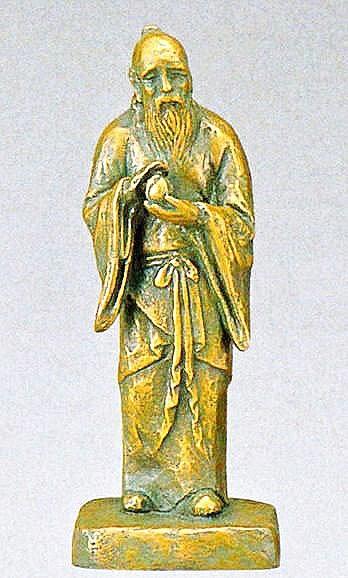 不老長寿(小)の置物/北村西望作品 日本彫刻界の最高峰 高岡銅器通信販売