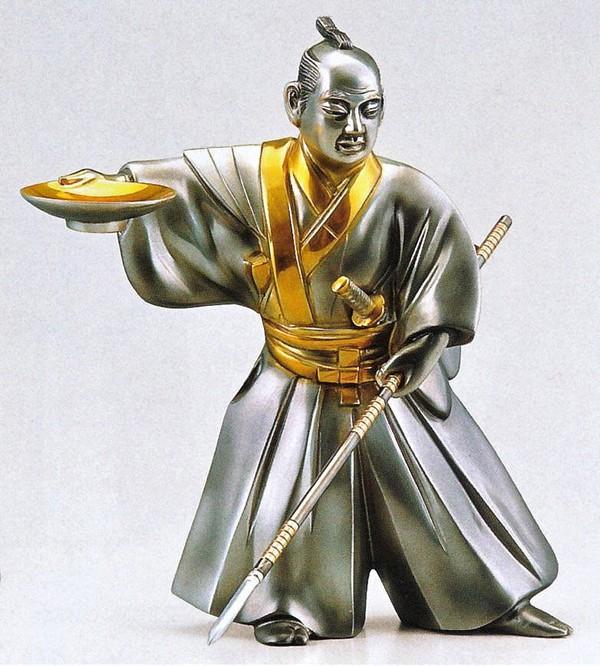 高岡銅器の和風置物/黒田武士10号 美術工芸通販/送料無料