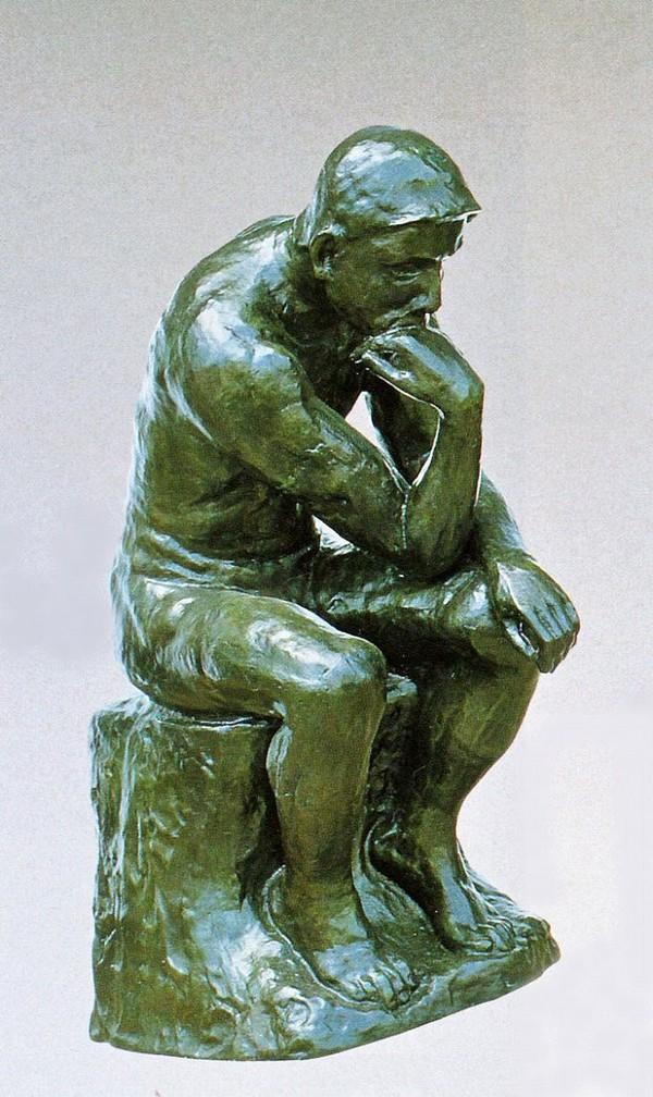 大型ブロンズ像/考える人 19号サイズ ブロンズ像/高岡銅器作品