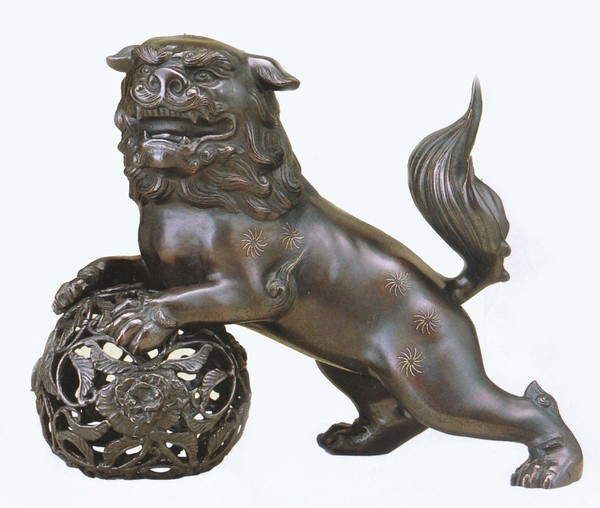 高岡銅器の獅子/玉獅子 15号 美術工芸通販/送料無料