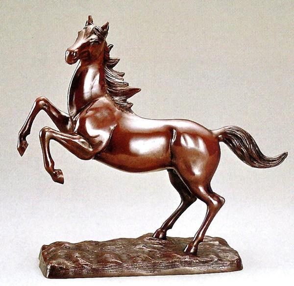 高岡銅器 馬の置物/台付飛馬 化粧箱付/送料無料