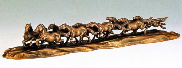 九頭馬 馬の縁起物/九頭馬 台付 高岡銅器通販/馬の縁起物