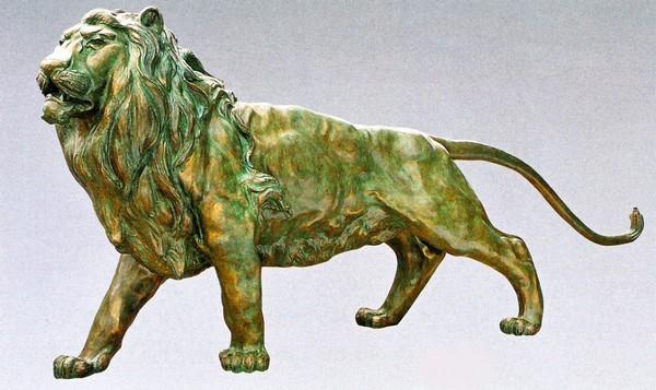 ライオンの置物 80号/北村誠峰作品 高さ140cm/高岡銅器