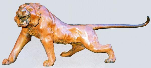 高岡銅器 大きな置物/虎 60号 幅175cmの美術工芸品