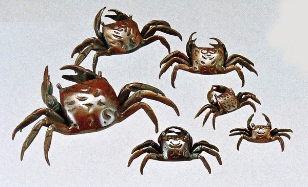 庭置物/蟹5号 高岡銅器/美術工芸通販