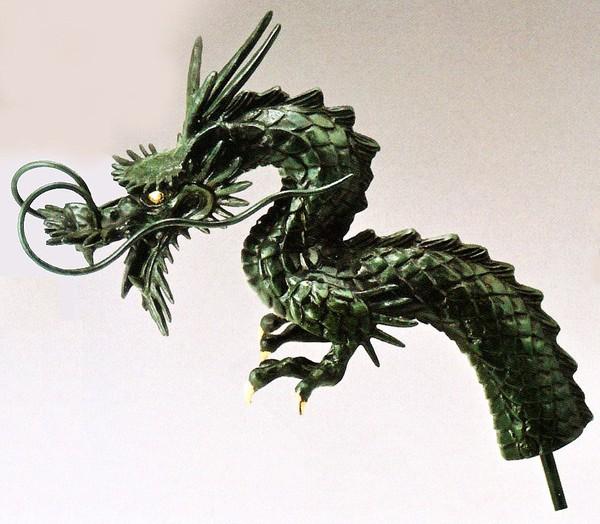 竜の蛇口 竜蛇口 12号 高岡銅器の庭置物 通販/送料無料
