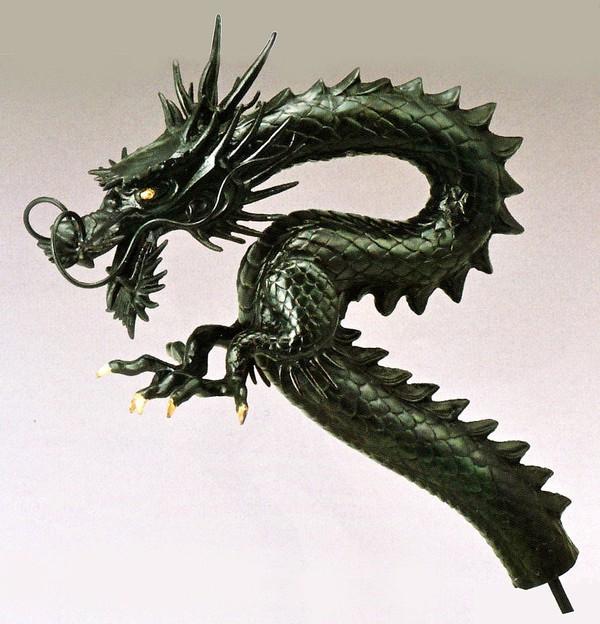 高岡銅器の庭置物 竜蛇口25号 美術工芸通販/送料無料