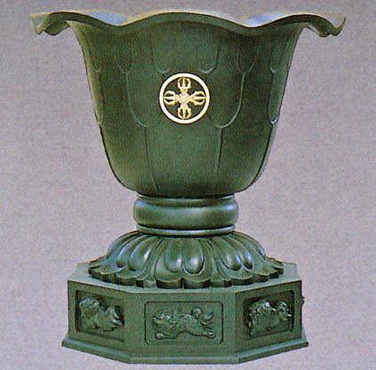 天水鉢/蓮型八角天水鉢 一対 2.5尺 高岡銅器の神仏具/送料無料