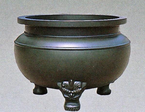 寺社仏閣の香炉(線香立)/獅子足香炉 2.5尺 高岡銅器の神仏具/送料無料